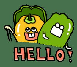 Cheerful Vegetables Village sticker #1897519