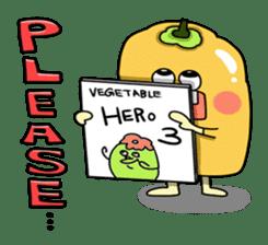 Cheerful Vegetables Village sticker #1897531