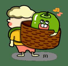 Cheerful Vegetables Village sticker #1897533