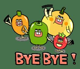 Cheerful Vegetables Village sticker #1897540