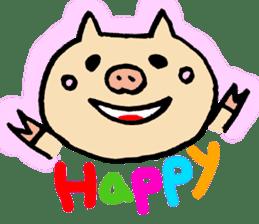 A pig. sticker #1900422