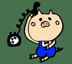 A pig. sticker #1900423