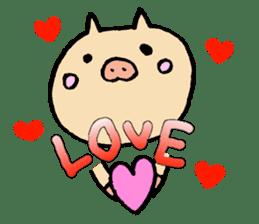 A pig. sticker #1900424