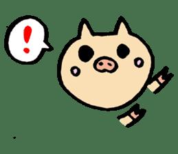 A pig. sticker #1900432