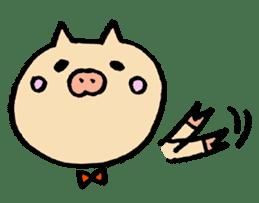 A pig. sticker #1900444