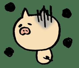 A pig. sticker #1900446