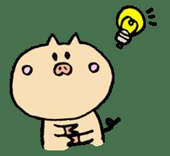 A pig. sticker #1900458