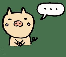 A pig. sticker #1900459