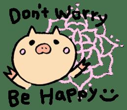 A pig. sticker #1900460