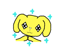 A Cute Dog With Long Ears sticker #1900647