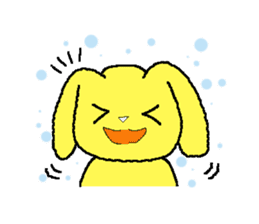 A Cute Dog With Long Ears sticker #1900655