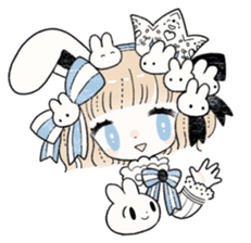 The Princess of Rabbit with One Ear sticker #1901541