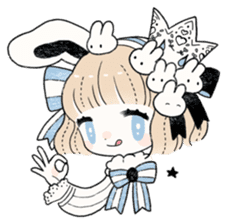 The Princess of Rabbit with One Ear sticker #1901543