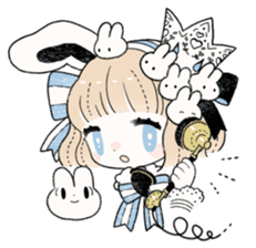 The Princess of Rabbit with One Ear sticker #1901560