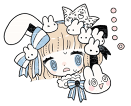 The Princess of Rabbit with One Ear sticker #1901563