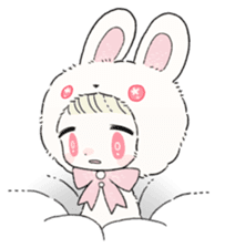 The Princess of Rabbit with One Ear sticker #1901564