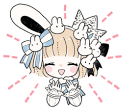 The Princess of Rabbit with One Ear sticker #1901565