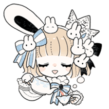 The Princess of Rabbit with One Ear sticker #1901567