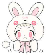 The Princess of Rabbit with One Ear sticker #1901568