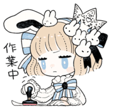 The Princess of Rabbit with One Ear sticker #1901574