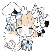 The Princess of Rabbit with One Ear sticker #1901576