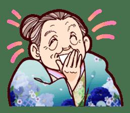 "Japanese lovely cute grandma ""yoshiko"". sticker #1904941"