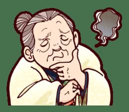 "Japanese lovely cute grandma ""yoshiko"". sticker #1904945"