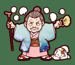 "Japanese lovely cute grandma ""yoshiko"". sticker #1904964"