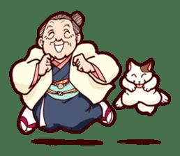 "Japanese lovely cute grandma ""yoshiko"". sticker #1904965"