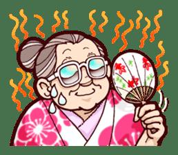 "Japanese lovely cute grandma ""yoshiko"". sticker #1904977"