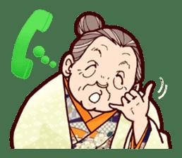 "Japanese lovely cute grandma ""yoshiko"". sticker #1904979"