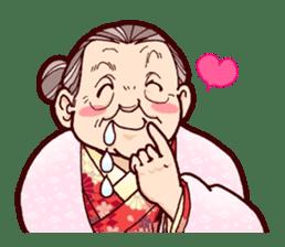 "Japanese lovely cute grandma ""yoshiko"". sticker #1904980"