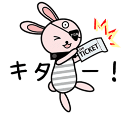 Eye patch Bunnies EL & RL sticker #1907410