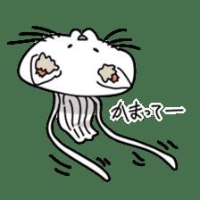 jellyfish such as animal sticker #1908749