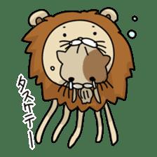jellyfish such as animal sticker #1908758