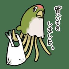 jellyfish such as animal sticker #1908763