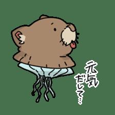 jellyfish such as animal sticker #1908765