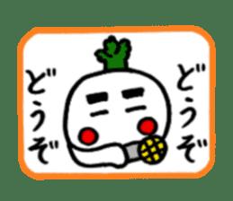 Radish Taro hear sticker #1910262