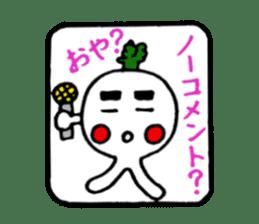 Radish Taro hear sticker #1910264
