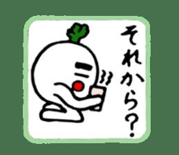 Radish Taro hear sticker #1910267
