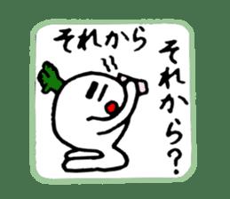 Radish Taro hear sticker #1910268