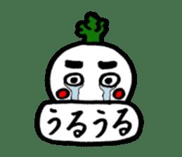 Radish Taro hear sticker #1910293