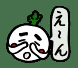 Radish Taro hear sticker #1910294