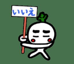 Radish Taro hear sticker #1910300