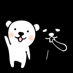 White & Black BEAR
