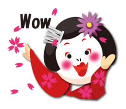 The Japanese dancing geisha sticker #1911933
