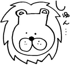 Daily life of the lion sticker #1915075