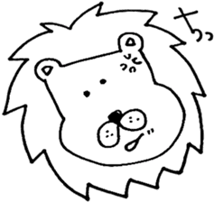 Daily life of the lion sticker #1915077