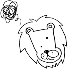 Daily life of the lion sticker #1915080