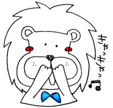 Daily life of the lion sticker #1915091